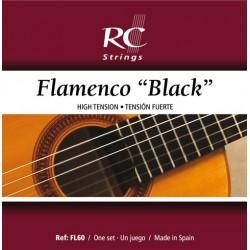 Juego de Cuerdas Royal Classics Flamenco Black Nylon Negro FL60