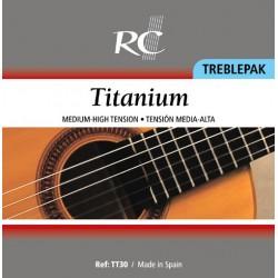 Juego de 3 tiples de Titanio (1 Mi, 1a / 1 Si, 2a / 1 Sol, 3a) TT30