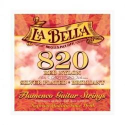 LB820 Juego de Cuerdas La Bella 820 Nylon Rojo