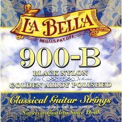 LB900 Juego de Cuerdas La Bella 900 Nylon Negro