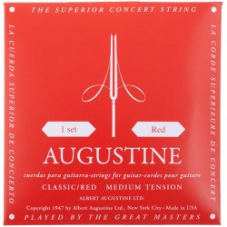 Augustine Red Tension Media. Juego de Cuerdas para Guitarra Clasica