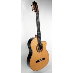 C320.590 RS CE Guitarra Flamenca Vicente Tatay - Fondo Palosanto Tapa Maciza de Abeto - Amplificada Fishman PSY-301 y Cutaway