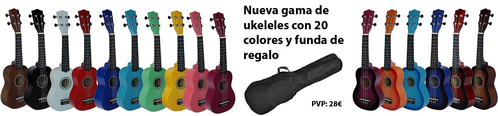 ukeleles 20 colores